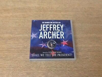 Shall We Tell The President  By Jeffrey Archer 3 Cd Audio Book 3 Hours Vgc
