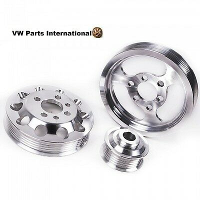 VW Golf MK4 1.8T 3 Piece Aluminium Performance Engine Pulley Set New Upgrade