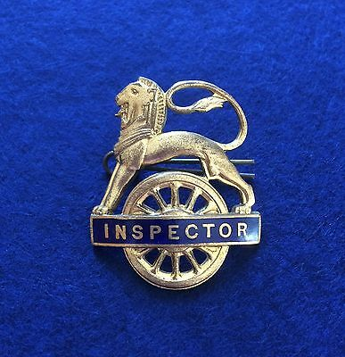 Original 1950's British Railways Enamel Inspector's Badge - Excellent Condition