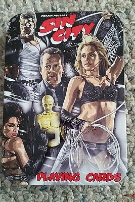Frank Miller's Sin City Playing Cards in Tin Holder-Sin City Movie-NECA 2005 NEW