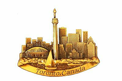 TORONTO CANADA CN TOWER Bronze Color EMBOSSED FRIDGE  MAGNET  .. NEW
