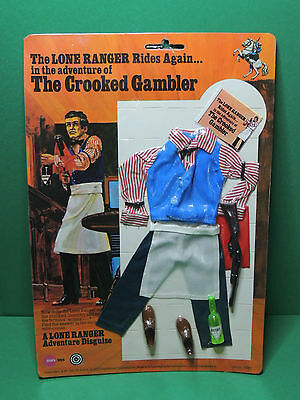 The Lone Ranger Crooked Gambler outfit for action figurine doll figure Marx toys