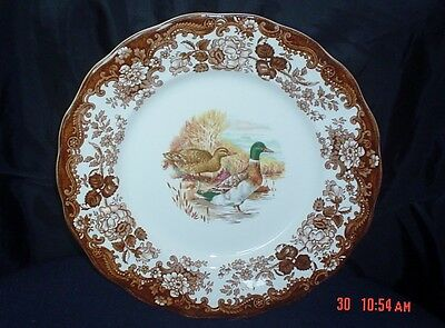 Palissy Royal Worcester Game Series - Dinner Plate Decorated Ducks