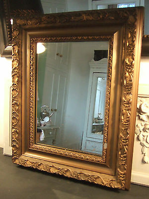 Antique Gilt Mirror with Foxing.