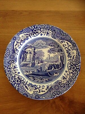 Vintage Spode blue and white plate