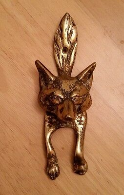 Brass Fox Knocker