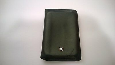 Montblanc Meisterstuck Business Card Holder Wallet Black Leather