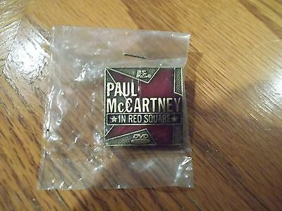 """RARE Paul McCartney """"In Red Square"""" PROMO Pin UNOPENED/Factory Sealed!"""