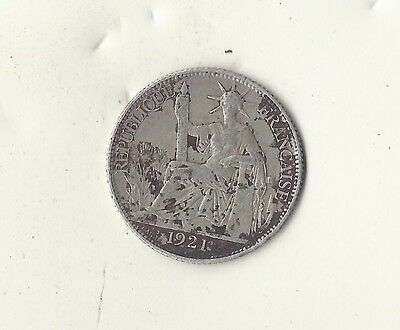 French Indo China, Vietnam, 1921 Silver   20 Cent  Pc.