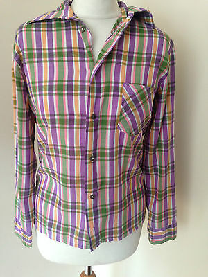Vintage 70s check shirt size 8-10
