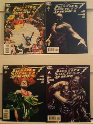 Geoff Johns JUSTICE SOCIETY of AMERICA #1 - 8 Alex Ross Covers (DC, 2007)!