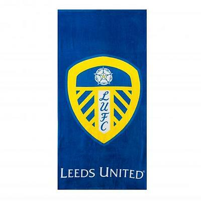 Leeds United Fc Official Crested Large Beach Towel