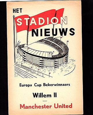 1963-1964 Willem II v Manchester United Cup Winners Cup POST FREE