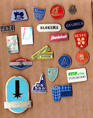 JOB LOT COLLECTION Vintage tractor pin badges 1960s Ford Claas Meteor Fasto