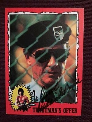 Richard Crenna Rambo First Blood Autographed Signed Trading Card