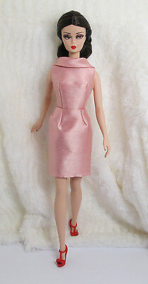 Ooak Handmade Old Rose Pink Silk Outfit Dress For Barbie Silkstone Muse Doll