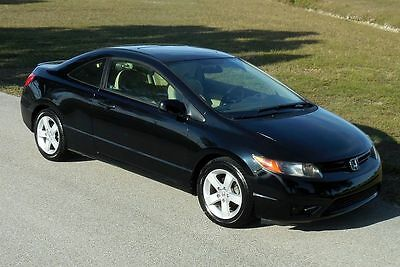 2006 Honda Civic EX Coupe Certified 1 Florida Owner~59,517 MILES!!! BLACK GEM~BOOKS RECORDS MANUALS SWEET 5 SPEED~NICEST ONE 07 08 09 SI