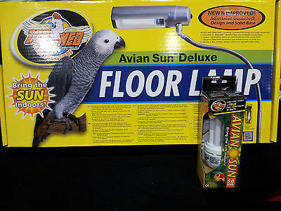 Avian Sun Compact 5.0 UV Bulb- Zoo Med's Floor Lamp/Parrot/African Grey/Macaw