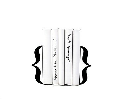 Atelier Article - Gift Steel bookends - Curly brackets (Black)