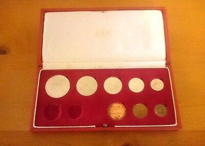 1970 South Africa Coin Set Silver 1 Rand Missing Gold 1 And 2 Rand