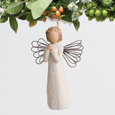 Willow Tree | ANGEL OF WISHES ORNAMENT *NEW* Susan Lordi 26071 Angel RARE CUTE