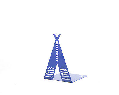 Atelier Article - Gift Steel bookend - Tipi / tepee / teepee (Blue)