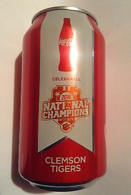 Rare Clemson Tigers 2017 Coke National Championship Coca-Cola Can Football