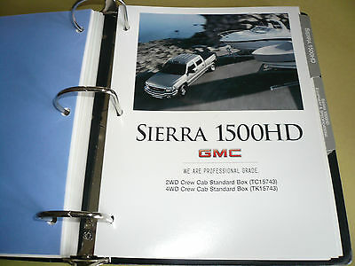 2005 GMC Sierra 1500HD Product Portfolio Pages Facts