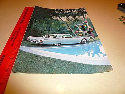 Ford Thunderbird T-Bird Blue Coupe Ad Advertisement Vintage