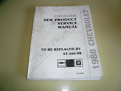 1988 Cavalier New Product Service Manual ST-366-88