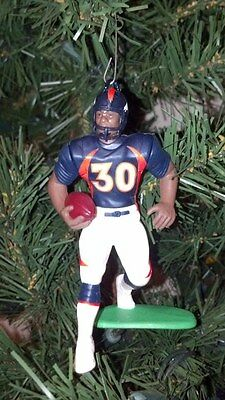 Terrell Davis Denver Broncos Blue Jersey Christmas Tree Ornament Keepsake