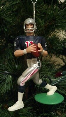 Drew Bledsoe New England Patriots  Blue Jersey Christmas Tree Ornament NFL