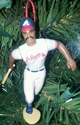 Ken Griffey, Sr. Atlanta Braves Grey Uniform Batting Christmas Tree Ornament