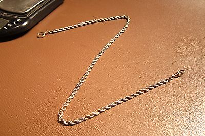 """Stunning Antique 16+"""" Rose & White Gold Filled Pocket Watch Chain Scrap/Use 15g"""