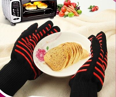 Oven BBQ kitchen Heat Resistant Gloves Cooking Silicone Mitts Baking Pot Holder
