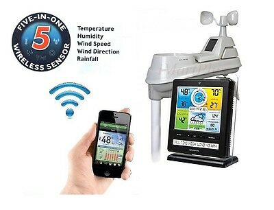 Acurite Wireless Professional Weather Station 5-in-1 |Colour Monitor| Phone App1
