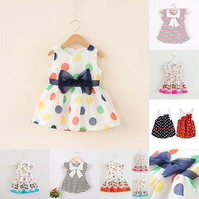 0-4Y Newborn Infant Baby Kid Girl Sleeveless Princess Dress Party Casual Dresses