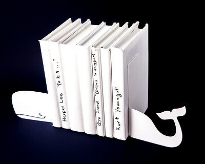 Atelier Article - Gift Steel bookends - Whale (White)