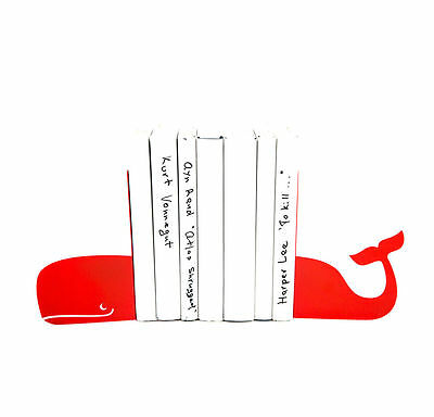 Atelier Article - Gift Steel bookends - Whale (Red)