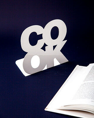 Atelier Article - Gift Steel bookend - COOK (White)