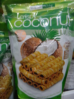 NEW Tropical Fields Crispy Coconut Rolls 265G from Fairdinks
