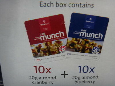 NEW Thinkfood Mini Munch Variety Pack 20 x 20G from Fairdinks