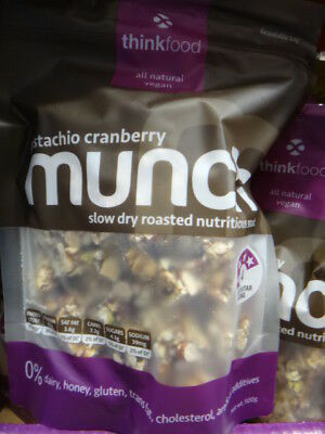 NEW Thinkfood Munch Pistachio/Cranberry 500G from Fairdinks