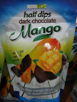 NEW Tropical Fields Dark Choc Dipped Mango 454G from Fairdinks