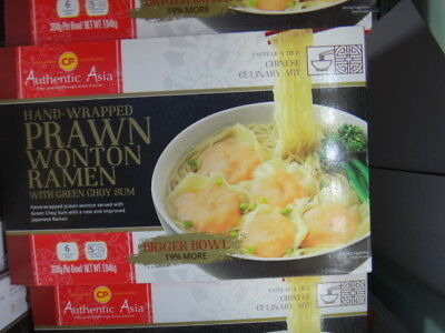 NEW CP Authentic Asia Prawn Wonton Ramen Soup 6 Pack 1.85KG from Fairdinks