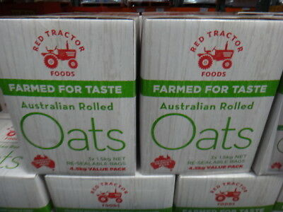 NEW Red Tractor 100% AUS Rolled Oats 4.5KG from Fairdinks