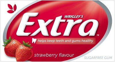 Wrigley's Extra Envelope Sugarfree Strawberry Gum 24 x 14 pack
