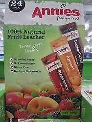 NEW Annies Natural Fruit Leather 24 x 20g from Fairdinks