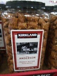 NEW Kirkland Signature Peanut Butter Pretzels 1.47Kg from Fairdinks