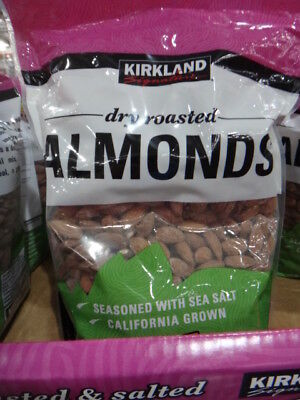 NEW Kirkland Signature Dry Roasted Almonds 1.13KG from Fairdinks